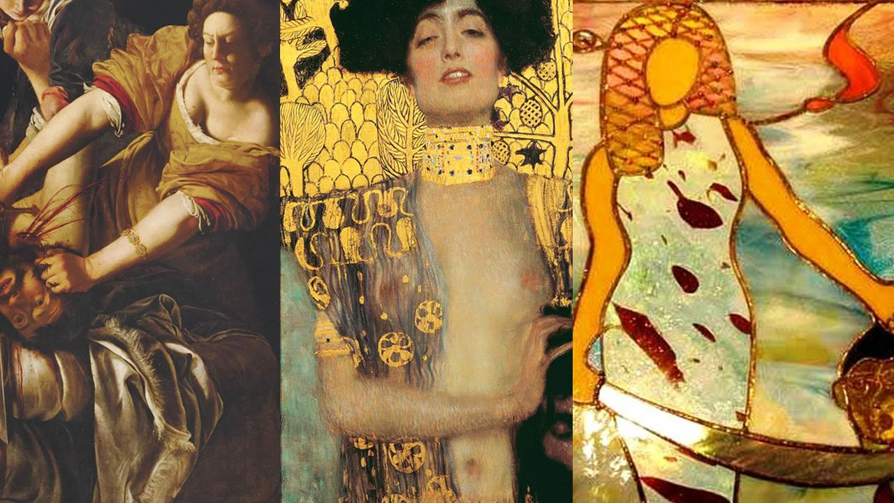 Collage Judith en Holofernes