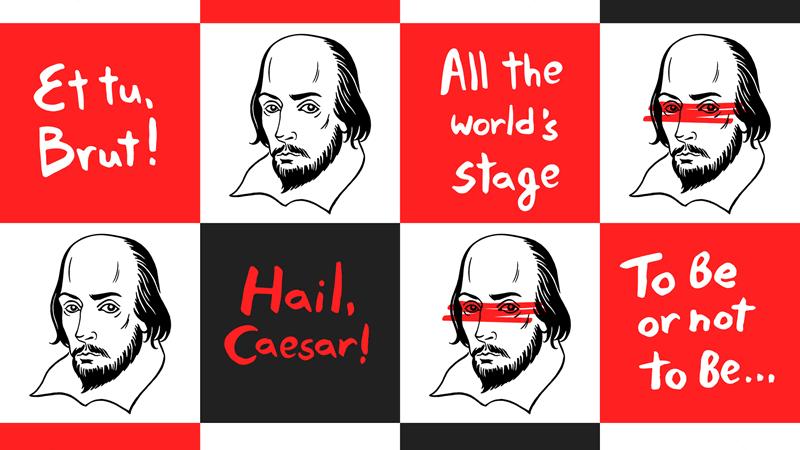 Shakespeare in een notendop