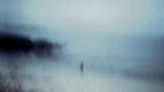 Figuur in de mist