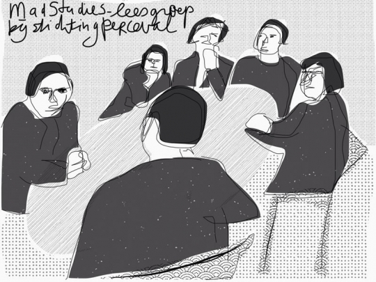 Mad Studies leesgroep - beeld: Grietje Keller