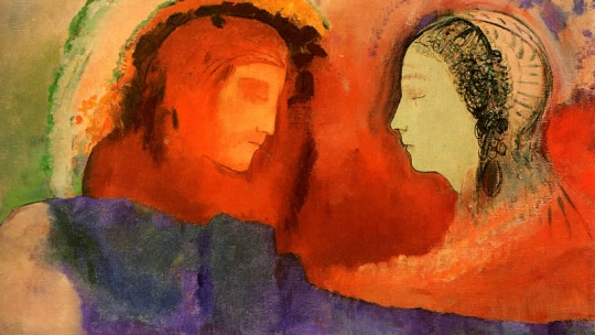 Odilon Redon Dante en Béatrice