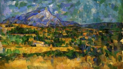 Paul Cézanne - schilderij Mont Sainte Victoire