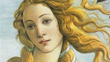 Detail 'Birth of Venus' (Sandro Botticelli, c. 1484-86)